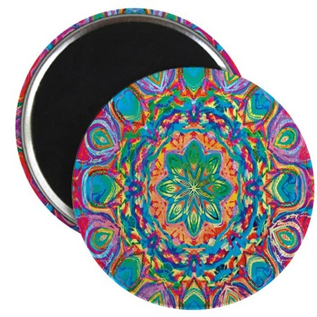 "Painted Flower 2.25"" Magnet (10 pack)"