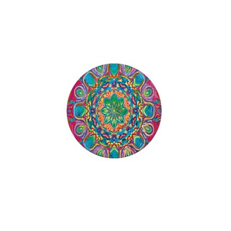 Painted Flower Mini Button (10 pack)
