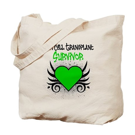 SCT Survivor Grunge Heart Tote Bag