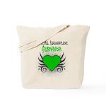 SCT Survivor Grunge Heart Tote Bag
