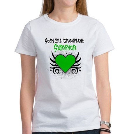 SCT Survivor Grunge Heart Women's T-Shirt