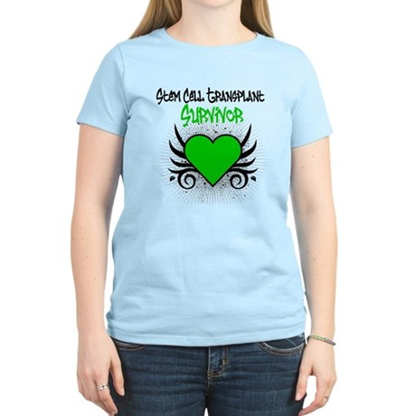 SCT Survivor Grunge Heart Women's Light T-Shirt