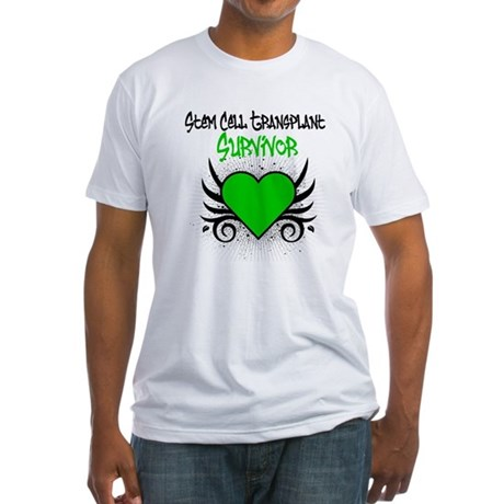 SCT Survivor Grunge Heart Fitted T-Shirt