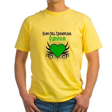 SCT Survivor Grunge Heart Yellow T-Shirt