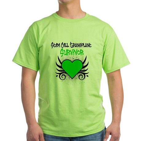 SCT Survivor Grunge Heart Green T-Shirt