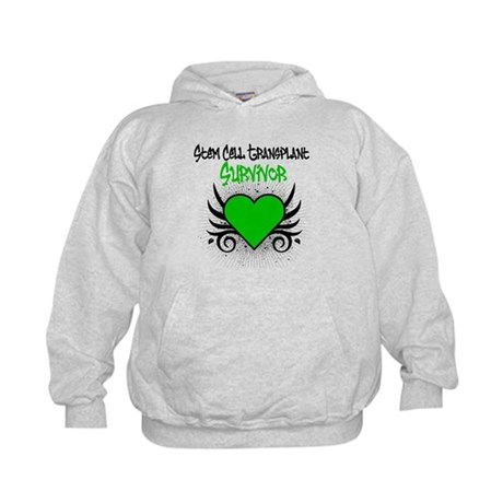 SCT Survivor Grunge Heart Kids Hoodie