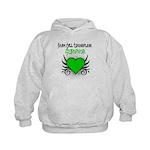 SCT Survivor Grunge Heart Kids Hoodie