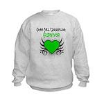 SCT Survivor Grunge Heart Kids Sweatshirt