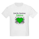 SCT Survivor Grunge Heart Kids Light T-Shirt