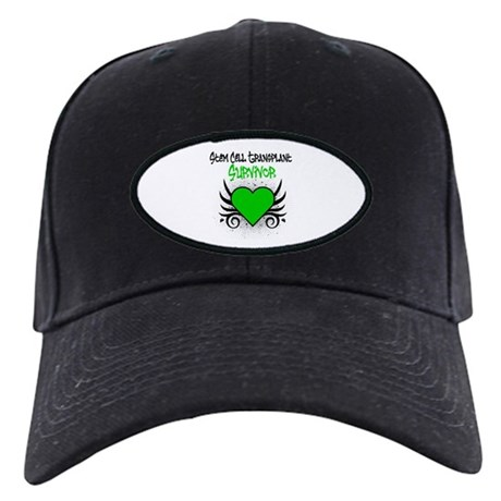 SCT Survivor Grunge Heart Black Cap