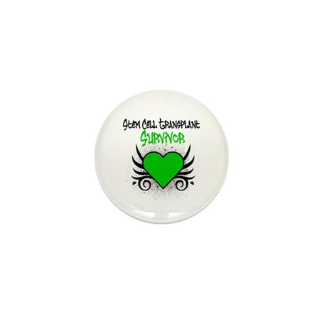 SCT Survivor Grunge Heart Mini Button