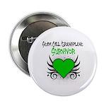 """SCT Survivor Grunge Heart 2.25"""" Button (10 pack)"""