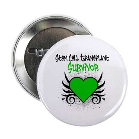 "SCT Survivor Grunge Heart 2.25"" Button (100 pack)"