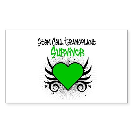 SCT Survivor Grunge Heart Rectangle Sticker