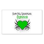 SCT Survivor Grunge Heart Rectangle Sticker