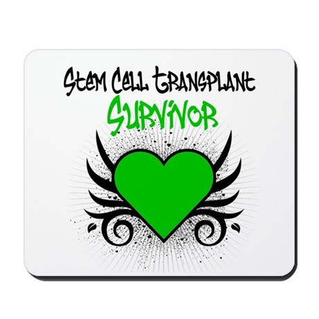 SCT Survivor Grunge Heart Mousepad