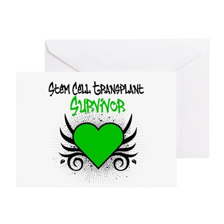 SCT Survivor Grunge Heart Greeting Card