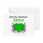 SCT Survivor Grunge Heart Greeting Card