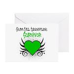 SCT Survivor Grunge Heart Greeting Cards (Pk of 10