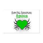 SCT Survivor Grunge Heart Mini Poster Print
