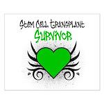 SCT Survivor Grunge Heart Small Poster