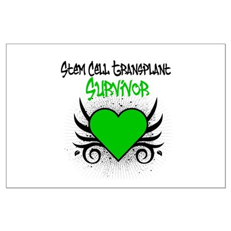 SCT Survivor Grunge Heart Large Poster