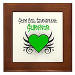 SCT Survivor Grunge Heart Framed Tile