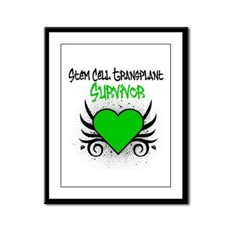 SCT Survivor Grunge Heart Framed Panel Print