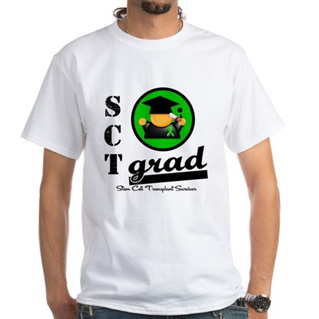 Stem Cell Transplant Grad White T-Shirt