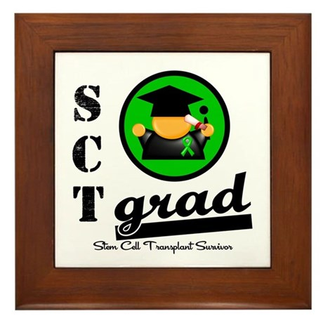 Stem Cell Transplant Grad Framed Tile