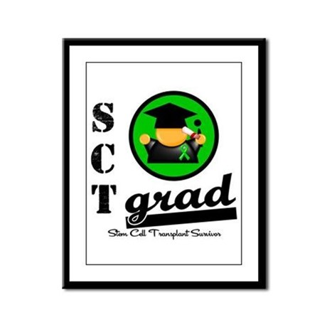 Stem Cell Transplant Grad Framed Panel Print