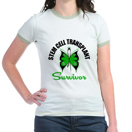 SCT Survivor Butterfly Jr. Ringer T-Shirt