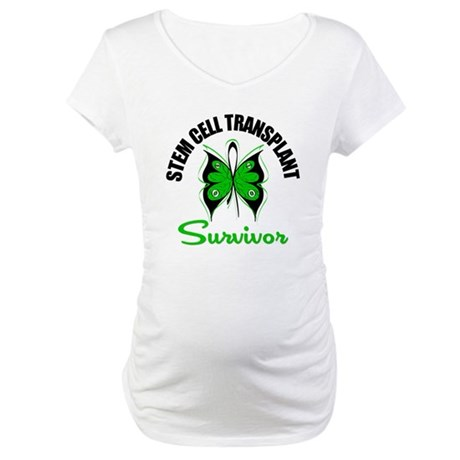 SCT Survivor Butterfly Maternity T-Shirt