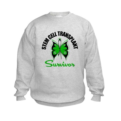 SCT Survivor Butterfly Kids Sweatshirt