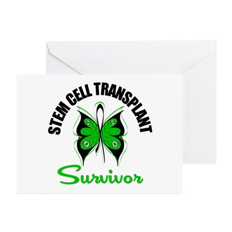 SCT Survivor Butterfly Greeting Cards (Pk of 10)