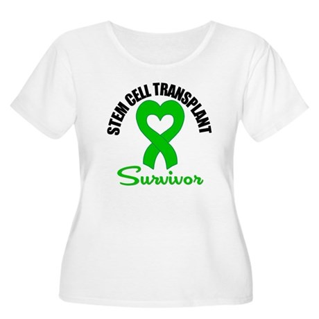 SCT Survivor Heart Ribbon Women's Plus Size Scoop