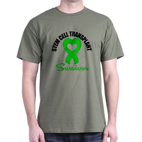 SCT Survivor Heart Ribbon Dark T-Shirt