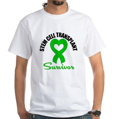 SCT Survivor Heart Ribbon White T-Shirt