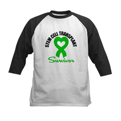 SCT Survivor Heart Ribbon Kids Baseball Jersey