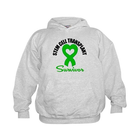 SCT Survivor Heart Ribbon Kids Hoodie