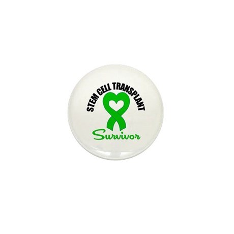 SCT Survivor Heart Ribbon Mini Button