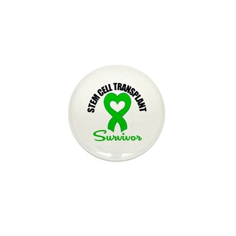 SCT Survivor Heart Ribbon Mini Button (100 pack)