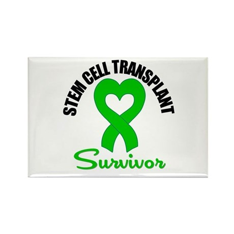 SCT Survivor Heart Ribbon Rectangle Magnet (100 pa
