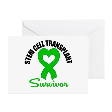 SCT Survivor Heart Ribbon Greeting Cards (Pk of 20