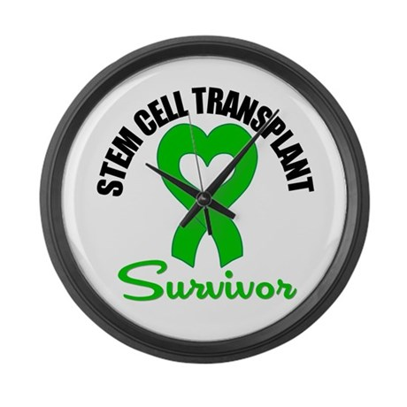 SCT Survivor Heart Ribbon Large Wall Clock