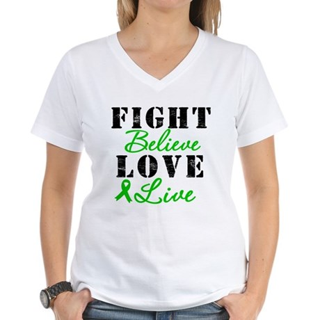 SCT Warrior Fight Women's V-Neck T-Shirt