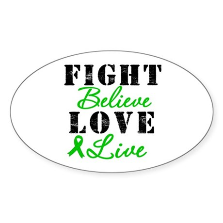 SCT Warrior Fight Oval Sticker (10 pk)