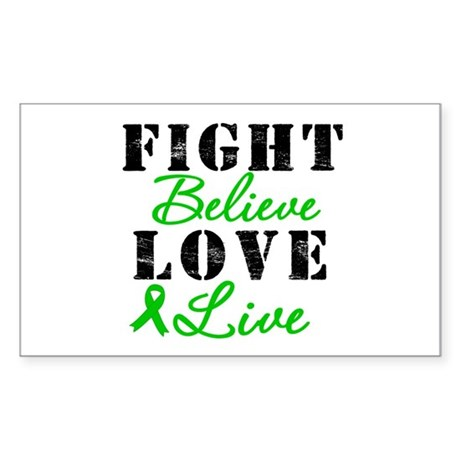 SCT Warrior Fight Rectangle Sticker 10 pk)