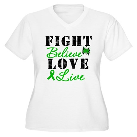 SCT FightBelieveLoveLive Women's Plus Size V-Neck