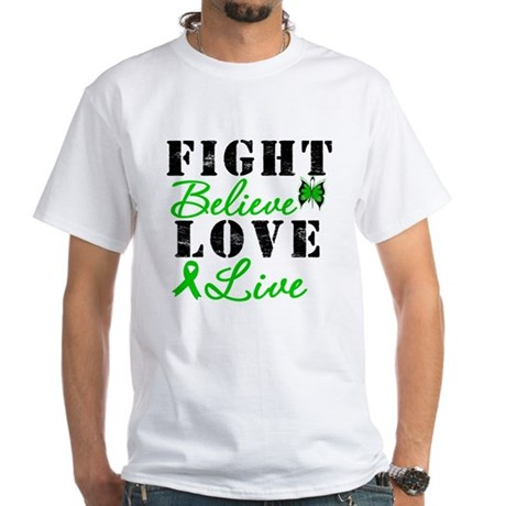 SCT FightBelieveLoveLive White T-Shirt